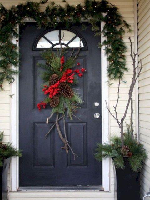 украшение двери дома