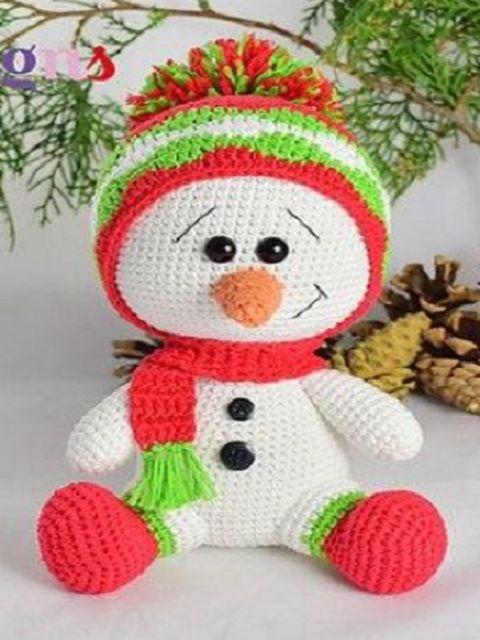 связанный снеговик