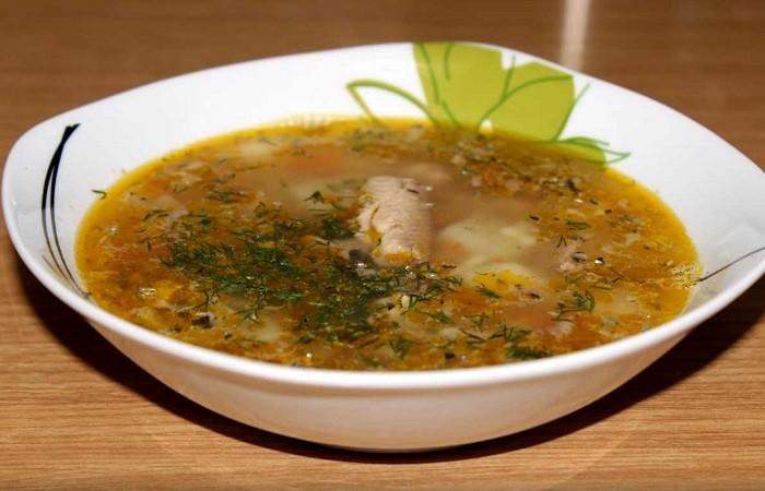 Сайровый суп из консервов с вермишелью