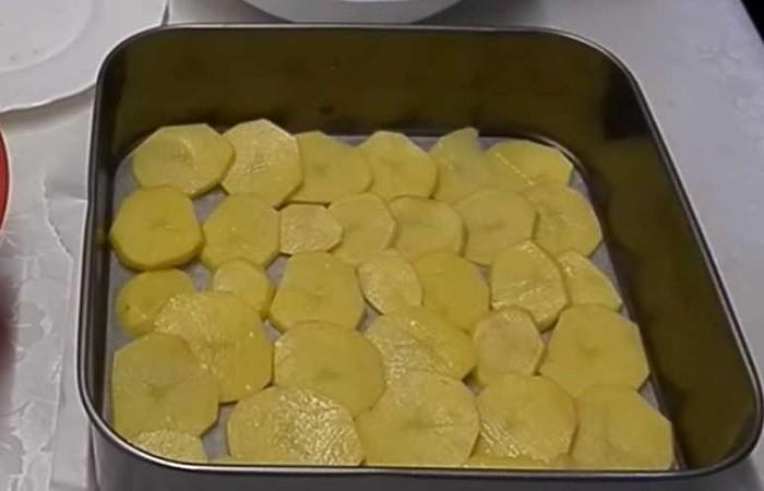 слой картошки в форме