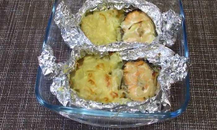 лосось с картошкой в фольге