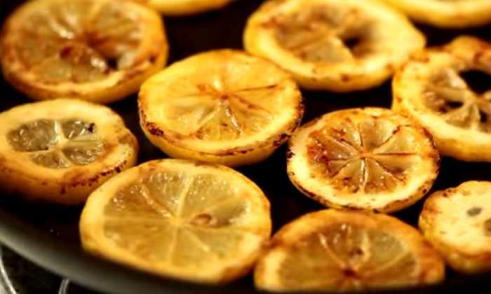 обжариваем лимон