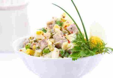 Домашний салат оливье с колбасой — рецепты зимнего салата с колбасой и огурцом
