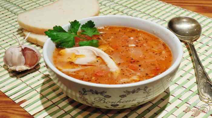 Суп харчо с курицей