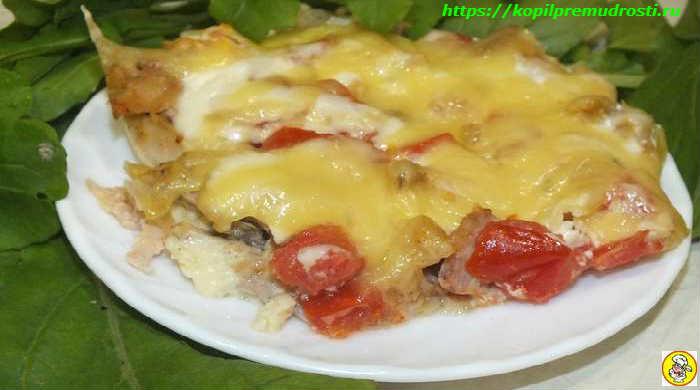 Куриное филе с сыром и помидорами в духовке, рецепт запеканки с пошаговыми фотографиями