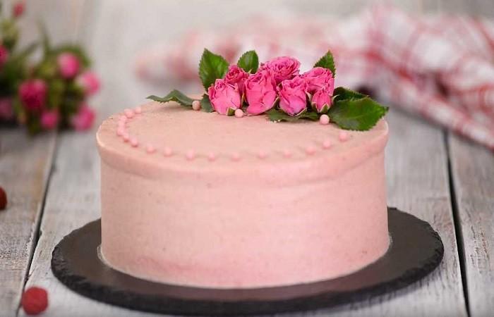 """Торт """"Розовый букет"""""""